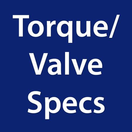 Torque/Valve Specs/Repair Procedures