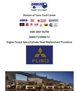 Mits 6M60 Valve Adjust Procedure & Specs 2005-2007 – Truck