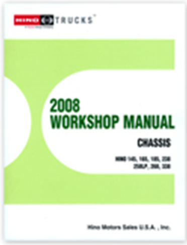2008 Hino Service Manual Vol 1 (all models)