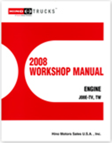 2008 WORKSHOP MANUAL ENGINE J08 - 6 CYL
