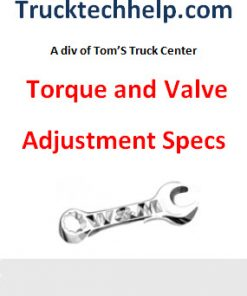 Torque/Valve Specs/Repair Procedures
